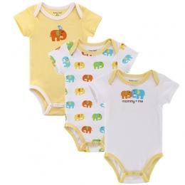 Matka Gniazdo 3 Fantasia Części/partia Dziecko Niemowląt Body Kombinezon Ogólnie Krótki Rękaw Body Suit Zestaw Ubrań Dla Dzieci