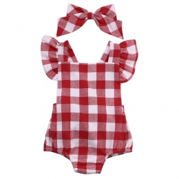 Newborn Maluch Niemowląt Baby Girl Kids Cotton Romper Kombinezon Dorywczo Ubrania Bownot 2 Sztuk Outfit AB