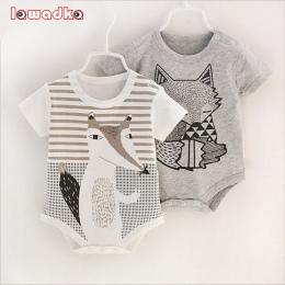 100% bawełna krótki rękaw dziecko clothing maluch chłopiec dziewczyny kombinezony pajacyki druku noworodka bebe roupas