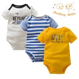 3 SZTUK/PARTIA Miękkiej Bawełny Moda Dla Dzieci Chłopcy Dziewczyny Odzież Dla Niemowląt Body Dla Dziecka Kombinezon Kombinezony