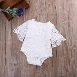 Nowy marka newborn baby girl body koronki księżniczka dziewczyna letnie dziecko dziewczyny clothing, biały 0-2 T