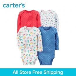 4 sztuk Bawełny Z Długim Rękawem słodkie drukuje Body zestawy cartera dziecko dziewczyna odzież ustawia All Seasons 126H316