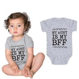Nowy Gorący Sprzedaży Dziecko Gril Onesie Unisex Baby Boy Ciotka Ciocia Ciotka Ubrania Dla Dzieci Kombinezon Dla Niemowląt