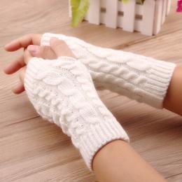 Rękawiczki damskie Stylowe ogrzewacz dłoni rękawiczki zimowe kobiet Arm Szydełka Dziania faux Wełna Mitten ciepłe Rękawiczki Bez