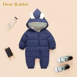 2018 wiosna Zima Kombinezon Dziecko Noworodek snowsuit Śnieg Wear Coats Chłopiec Ciepłe Romper 100% dół Bawełna Dziewczyny ubran