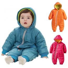 Snowsuit Dziecko zużycie Śnieg Bawełny Wyściełane Jednym Kawałku Ciepłe Odzieży Wierzchniej Odzieży Dla Dzieci Kombinezony Rompe