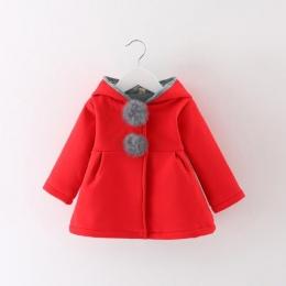 Newborn Dziewczyny Płaszcz Kurtka dla dzieci Babie lato Dzieci bebe Niemowląt królik długie Ucho Bluzy Bawełniane Odzieży Wierzc
