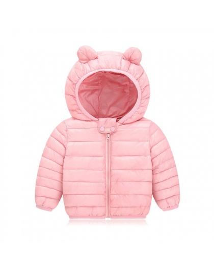 Ciepła zimowa kurtka dla dziecka chłopca dziewczynki jesień zima niemowlę dla dzieci