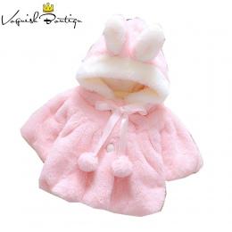 Dziewczynek odzież dla niemowląt bébés Koral aksamitu kaptur odzieży zimowe ubrania dla dzieci outwears cute noworodka ubrania k