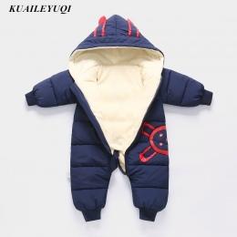 -30 stopni Nowy Jesień Zima płaszcz nosić Dziecko Noworodek Snowsuit Fotografia Chłopiec Ciepłe Romper Dół Bawełna Dziewczyny ub