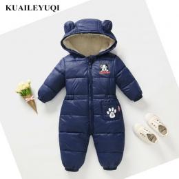 2018 nowe Zimowe Pajacyki Ubrania Dla Dzieci Dzieci Chłopcy Dziewczęta Kombinezon Dzieci Kaczka Dół Bawełniane Kombinezony snows
