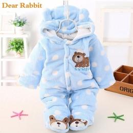 Dziecko Oraz aksamitna grubsze płaszcz zimowy ubrania bodysuit noworodka ciepłe romper Śnieg Wear kombinezony dla dziewczyna baw
