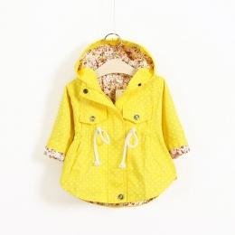 Nowa Wiosna Dziewczynek Odzież dla niemowląt Odzieży Dla Niemowląt Cartoon Płaszcz wave wydrukowano batwing płaszcz