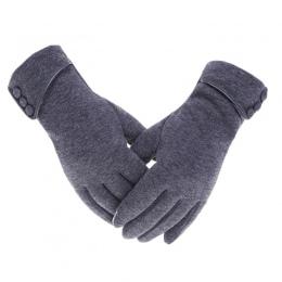 Elegancki Plush Kobiety Rękawiczki Jesień Zima dla Fitness Kobiet Nadgarstka Rękawice Jazdy Rękawiczki