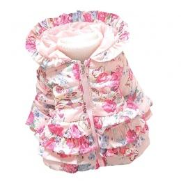 Bibicola zima dziewczynek ciepłe płaszcze dzieci kurtki płaszcze kurtki kurtki dla dzieci kwiaty clothing garniturów