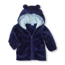 3-24 m Dziecko Koral Aksamitne z długim rękawem płaszcz chłopiec dziewczyna zamaskowany zamek z kapturem śliczne uszu noworodka