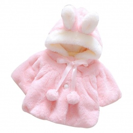 Niemowlę Dziewczyny Zima Ładny Płaszcz Płaszcz Koreański Styl Łuk Dziecko dzieci Grube Ciepłe Ubrania Noworodka Futro Piłka Kape