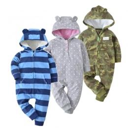 Nowy 2018 kostium dla dzieci śliczne camo kombinezon płaszcz dla baby boy ubrania dla dzieci, polar strój Kurtka dla niemowląt d