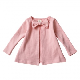 Dzieci Dziecko Dziewczyny Cardigan Kurtki Płaszcze Dzieci Bow-Knot Sukienka Z Długim Rękawem Kurtki Ubrania Dla Dzieci Wiosna Je