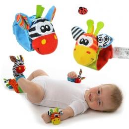 Skarpetki dziecięce Grzechotka Zabawki 2018New Ogród Bug Wrist Rattle Foot Skarpetki Wielokolorowe 2 sztuk Pasie + 2 sztuk Skarp