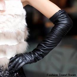 2 Kolory 2018 Nowy Faux Długie Skórzane Rękawiczki Moda Kobiety Rękawice Ciepłe Zewnątrz Długi Projekt Sexy Rękawice Darmowa Wys
