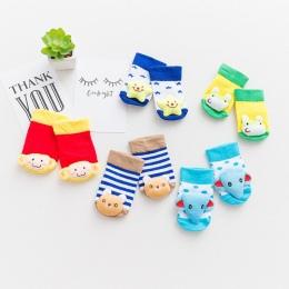Cute Zwierząt Dziecko Skarpetki antypoślizgowe Podeszwy Gumowe KT Skarpety dla Dziewczynek Chłopców Kreskówki Noworodka Skarpetk