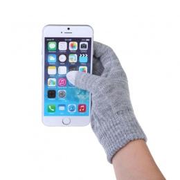 1 para Magiczne Rękawice Ekranu Dotykowego Kolorowe Miękkie Wełny Bawełniane Dzianiny Rękawice Zimowe Cieplej Smartfonów Jazdy P
