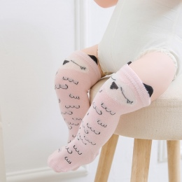 Newborn Maluch kolana wysokie skarpety Baby Girl Boy Skarpetki anti slip Cute Cat Cartoon Fox getry Dla noworodków niemowląt cie