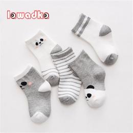 Lawadka 5 par/partia Bawełna Paski Skarpetki Dziecięce Newborn Baby Chłopcy Dziewczyny Sock Śliczne Maluch Dzieciak Skarpetki Ro