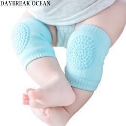 Maluch Dzieci Kneepad Protector Miękkie Zagęścić Frotte Antypoślizgowe Dozowania Bezpieczeństwa Crawling Baby Getry Dobrze Nakol