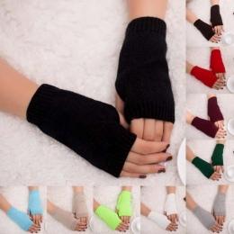MUQGEW Piękne Kobiety Dziewczyna Wykwintne Szydełka Dzianiny Fingerless Arm Ciepłe Rękawice Zimowe Rękawice Termiczne Miękkie Ci
