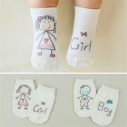 2018 Nowa Wiosna Skarpetki Niemowlęce Noworodka Bawełna Chłopcy Dziewczęta Cute Toddler Asymetria antypoślizgowe Skarpetki