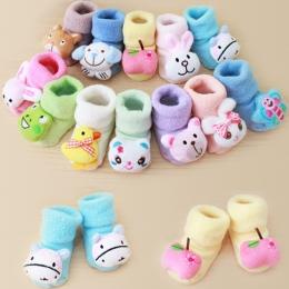 Nowa Wiosna Zima Ciepłe Dziecko Skarpety Newborn Bawełniane Chłopcy Dziewczęta Cute Toddler Asymetria antypoślizgowe Skarpetki B