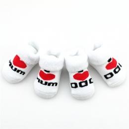 Bawełna Mini Cute Baby Skarpety Dziewczyna Boy Miłość Tata Miłość mama Noworodka Skarpetki Dziecięce Skarpetki Dla Dzieci Maluch
