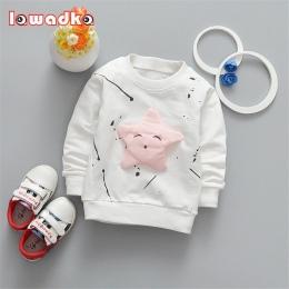 Dziecko Dziewczyny Chłopcy koszulka Z Długim Rękawem Gwiazdy Wzór Sportowe koszulki dla dziewczynek Bawełniane Ubrania Dla Dziec