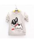 Lawadka Kompania Sport Boys Baby T-shirt Pies Wzór Z Długim Rękawem T Shirty dla chłopców Bawełniane Ubrania Dla Dzieci