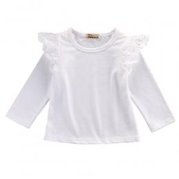 Maluch Niemowlę Noworodka Dzieci Dziewczynek Księżniczka 4 Sztuk/partia Hurtownie Odzież Outfit Lace T shirt Z Długim Rękawem Bl