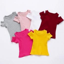 Lato Dzieci T Shirt Casual Proste Dziewczynek Miękkie Bawełniane Topy Kid Maluch Z Krótkim Rękawem T-shirty Dla Dzieci Odzież