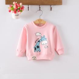 Dziecko Malucha Dla Dzieci Dziewczyny Wiosna Jesień Koszulki Audel Bawełna Z Długim Rękawem Zima Bottoming Koszule 65-90 cm Dzie
