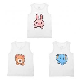Dziecko Koszulka Dla Dzieci Cute Cartoon Zwierząt Niemowlę Chłopcy Dziewczęta Zbiorniki Topy Lato Kamizelka Bez Rękawów Koszulki