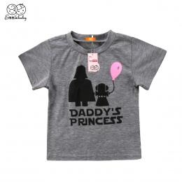 Tata Emmababy's Księżniczka Star Wars Wzór Dziewczynek Dzieci T-shirt 6 12 18 24 Miesięcy