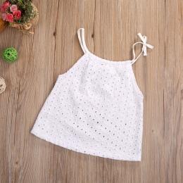 Maluch baby girl clothing szydełka nowonarodzone dzieci szelki top camisole koronki dziewczynka t shirt 0-3 t