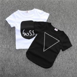 Dzieci koszulki List Ubrania T shirt Dla Dziewczyn Chłopcy koszulki casual Dla Dzieci Z Krótkim Rękawem Dla Dzieci Odzież dzieci