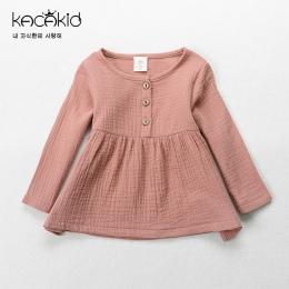 Kacakid Wiosna cute baby dziewczyny Trójniki shirt kids cotton T-shirt dla dzieci bluzy z długim rękawem Bluzy