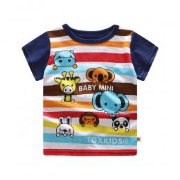 Boys baby koszulki Lato 2018 Nowe Bawełniane Ubrania Dla Dzieci Kreskówki Maluch Baby Boy Odzież Newborn Baby Boy t-shirty