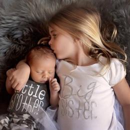 2018 Latem Dorywcza Najnowszy Newborn Baby Chłopcy Dzieci Odzież Koszulka Brat Siostra Body List Rodzina Dopasowanie Ubrania Str