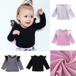 Pudcoco Najnowsze Przyjazdy Hot Infant Newborn Maluch Koronki Dzieci Dziewczyna Koszulki Dla Niemowląt Z Długim rękawem Casual P