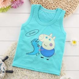 Koszula Bluzki Dla Dzieci Dzieci Kamizelka Bez Rękawów koszulka Chłopcy nowy Maluch Koszulki Fajne Świnia Druku Bawełna Cartoon