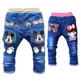 Cartoon Baby Boy Ubrania Jeansowe Spodnie W Pasie Na Co Dzień Drukowane Malucha Spodnie Dziewczęce Spodnie Jeansy Dla Dzieci do