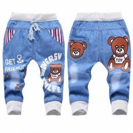 Baby Boy Ubrania Kreskówki Chłopców Dżinsy Dzieci Ubrania Spodnie W Pasie Berbeć Dziewczyny Spodnie Moda Dla Dzieci Jeans dla 2-